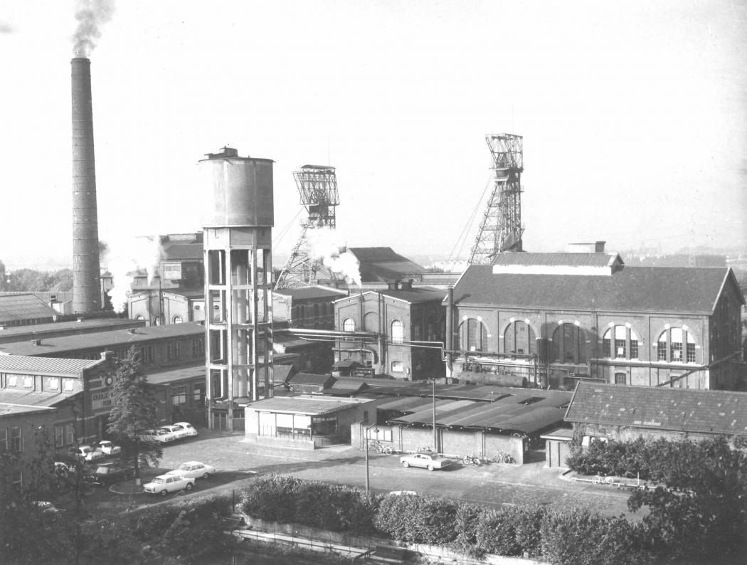 Mijncomplex Oranje-Nassau II in de jaren '60 (foto: beeldbank gemeente Landgraaf)