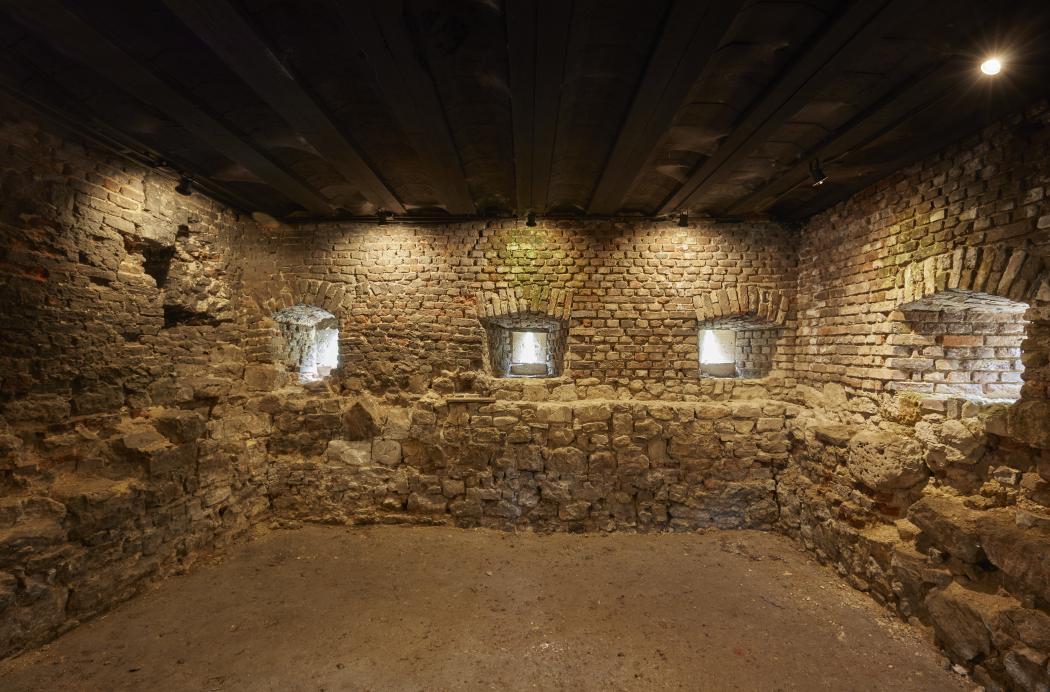 Eén van de kelders van Kasteel Schaesberg waar Caspar ter Konig mogelijk gevangen zat